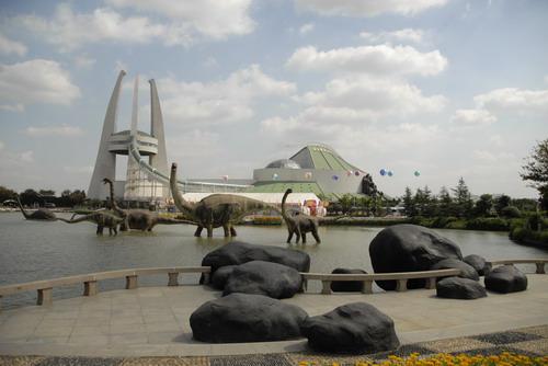 常州恐龙园海报-中华恐龙园(摄影:胡海川)-2008中国 常州 国际动漫艺术周开幕