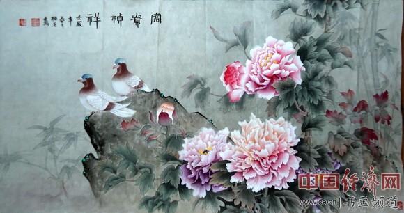 谭梅英国画作品
