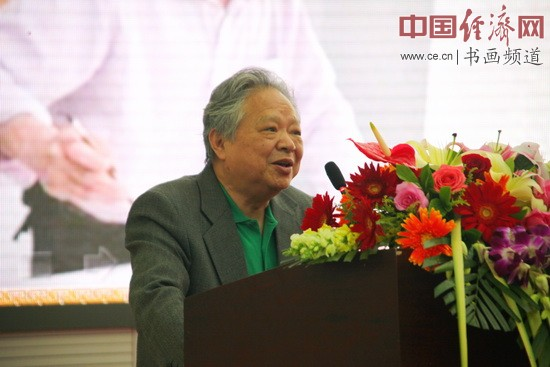 国画大师姚治华致辞 中国经济网李冬阳摄