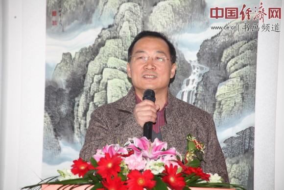 人民武警出版社社长高津滔致辞 中国经济网记者李冬阳摄