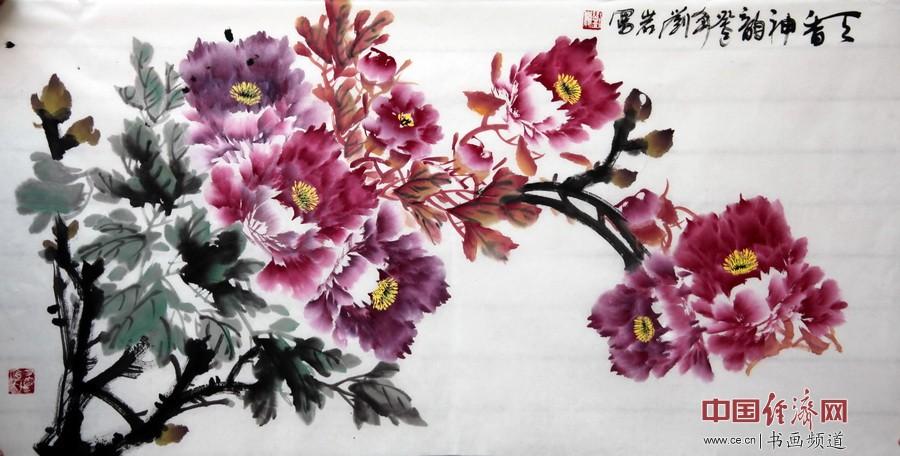 """""""牡丹王子""""刘岩牡丹题材国画作品"""