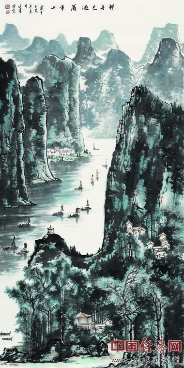[�p舟已�^�f重山.2012].1.38mx0.69m 作者:秦健春